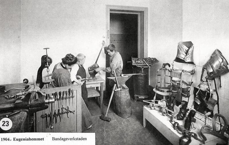 Bandageverkstaden 1904.