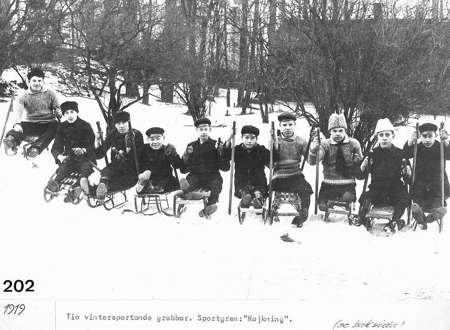Kälkåkare 1919.