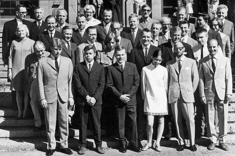 Avslutning yrkesskolan 1968.