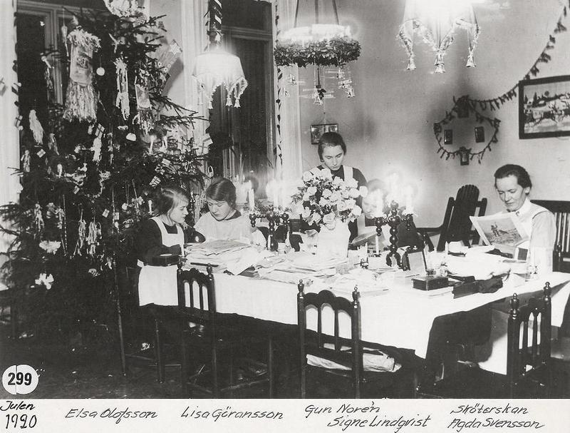 Julpyssel 1920.