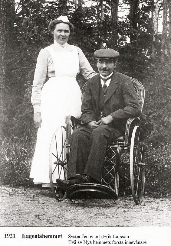 Syster Jenny och Erik Larsson 1921.