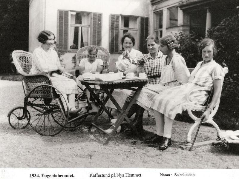 Kaffestund på Nya Hemmet 1934.