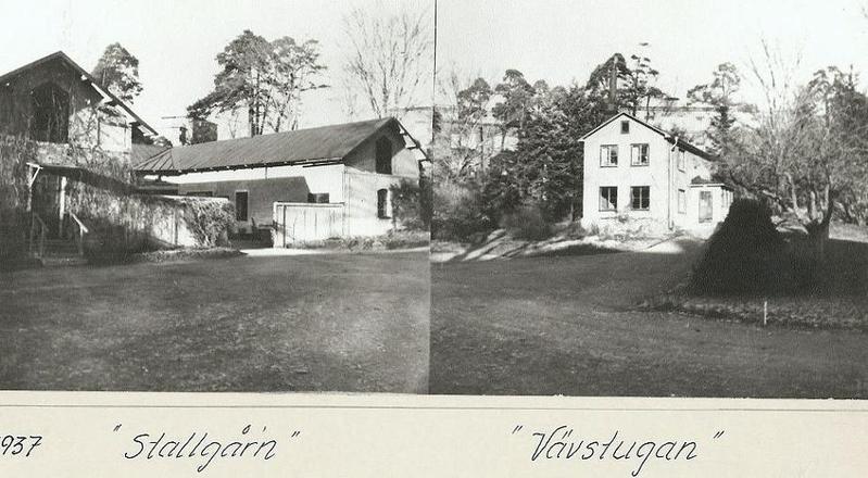 Stallgårn och Vävstugan 1937.