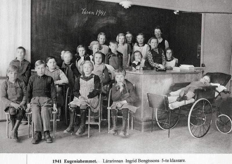 Ingrid Bengtssons 5:e klassare 1941.