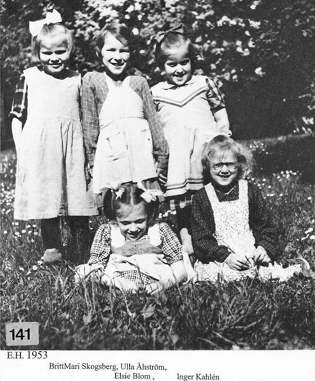 Fem glada flickor 1953.