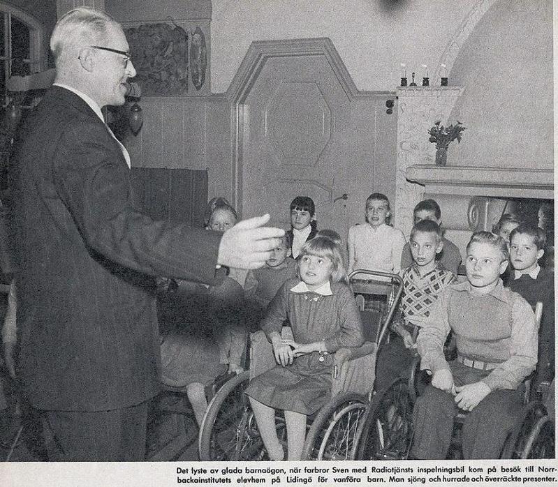 Sven Jerring fyller 60 år 1955.