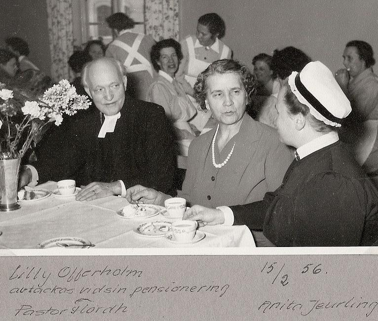Lilly Offerholm går i pension 1956.