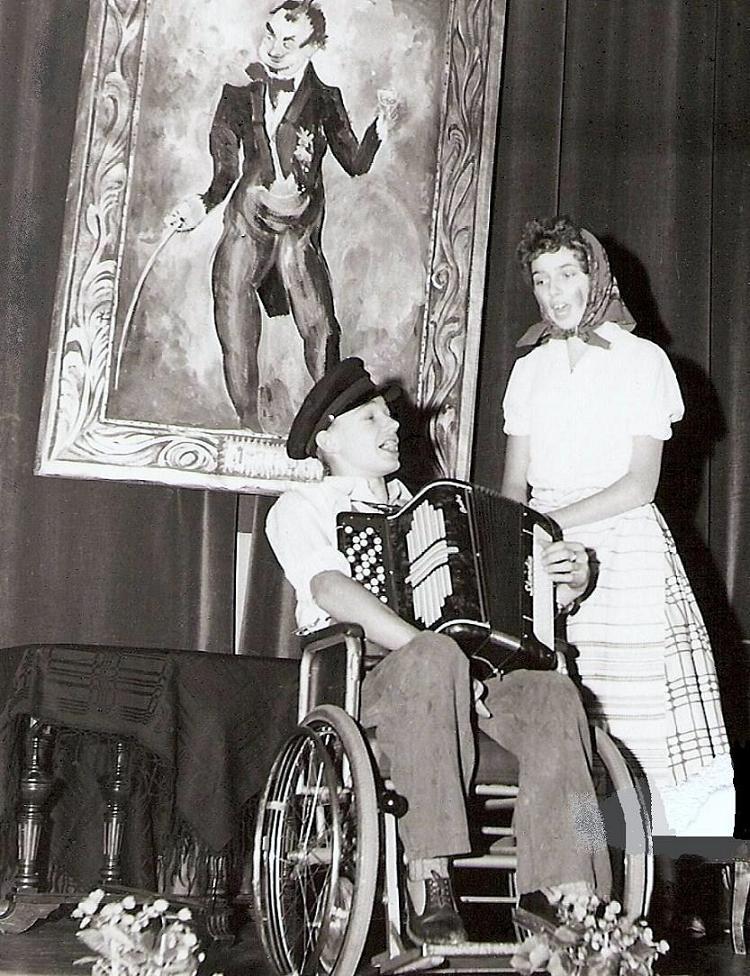 Höstfest 1958. Sune och Laila.