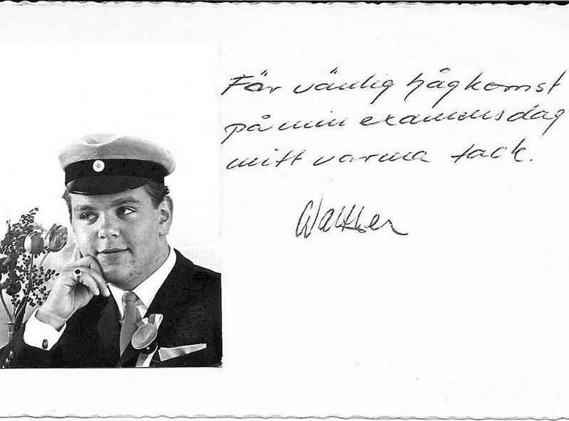 Walther Jansson examen 1962.