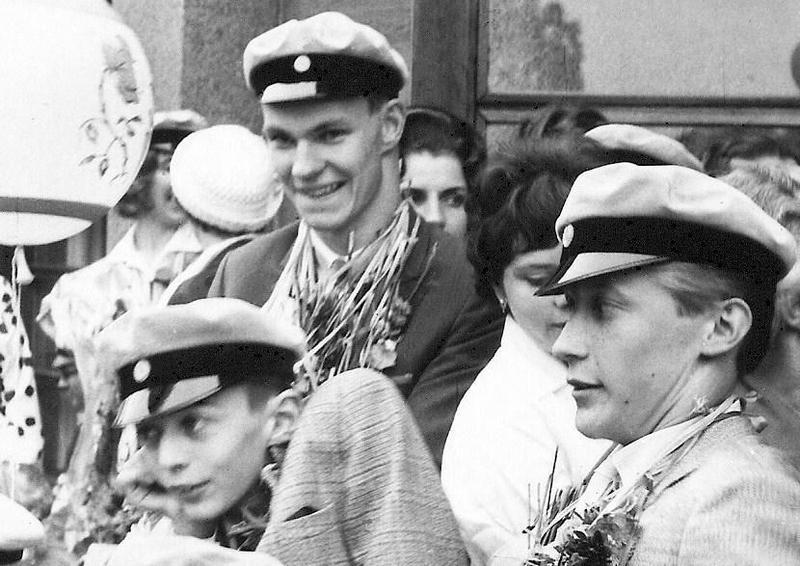Björn, Kaj och Rolf examen 1963.