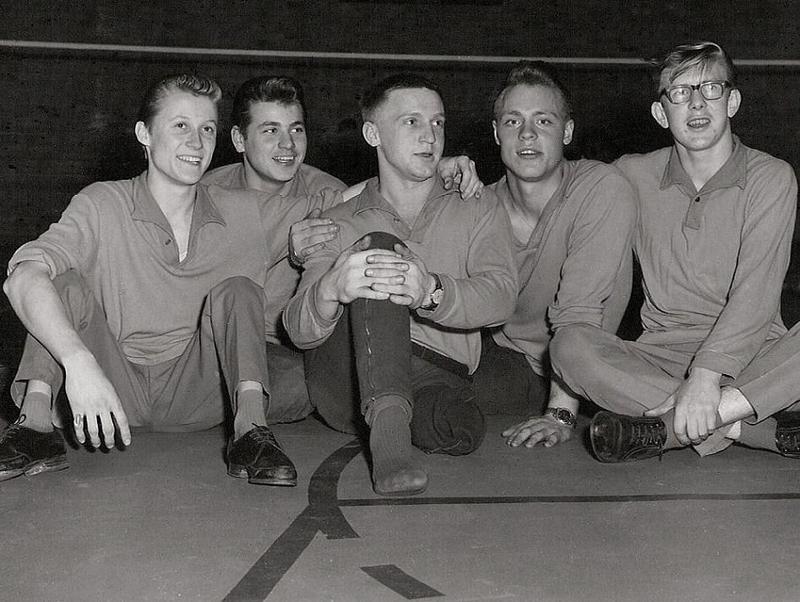 Norrbackas A-lag i volleyboll 1964.