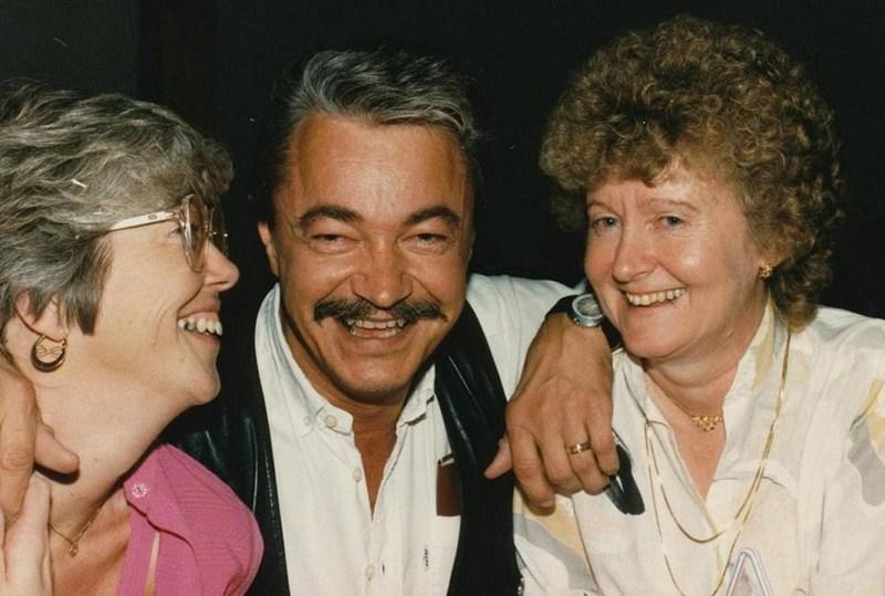Sune Nordgren på återföreningsträff i Åre 1986.