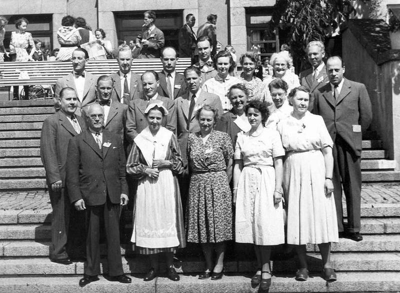 Gruppfoto personal 50-tal.