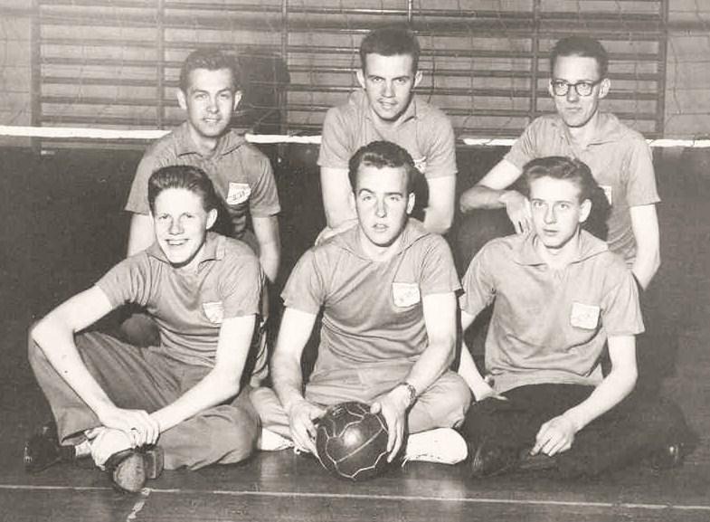 Norrbackas volleybollag 11 februari 1960.