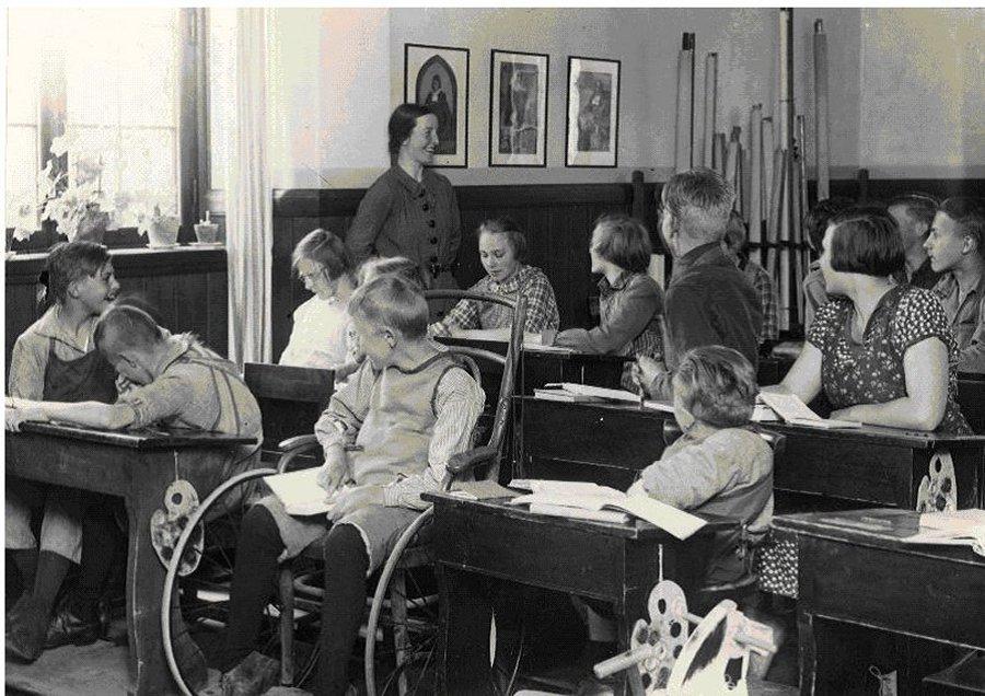 En avgångsklass på skolhemmet