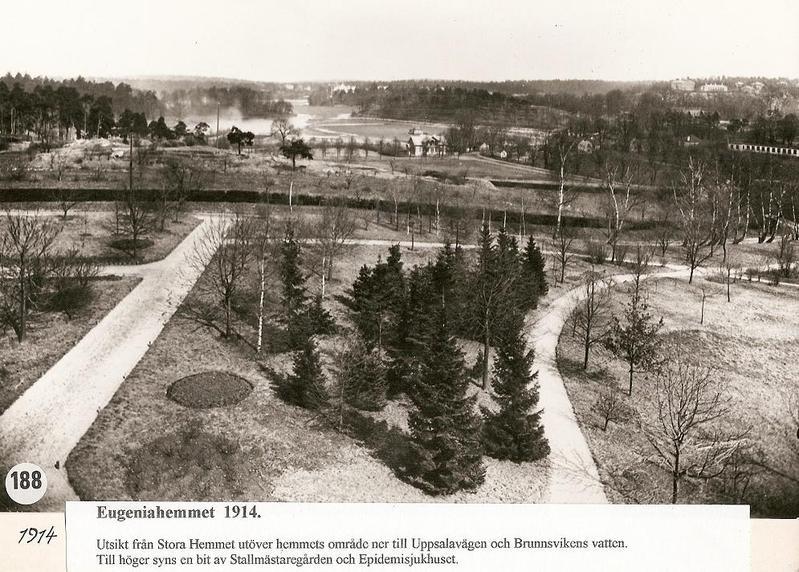 Utsikt från Stora Hemmet 1914.