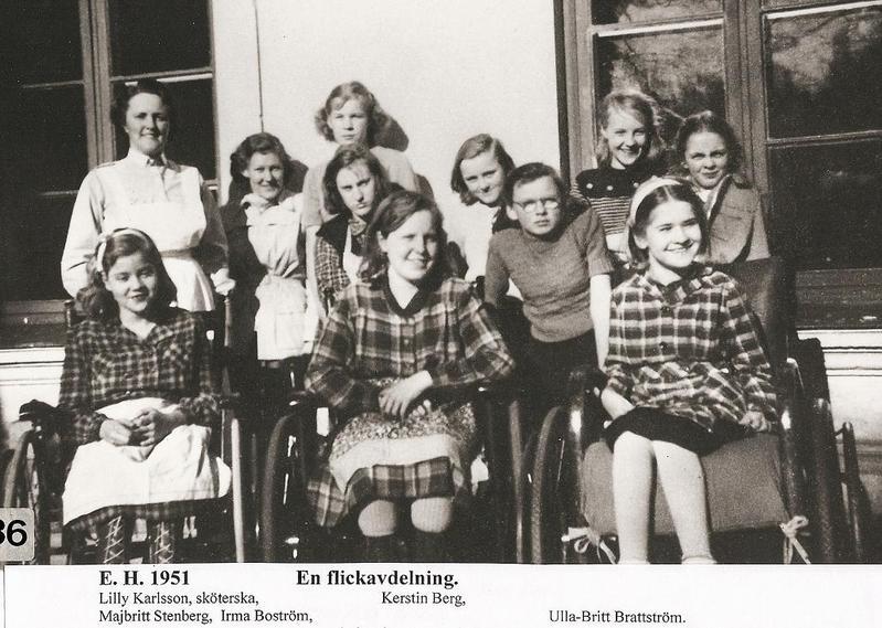 En flickavdelning 1951.