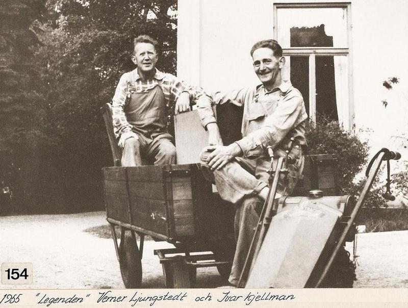 Verner Ljungstedt och Ivar Kjellman 1955.