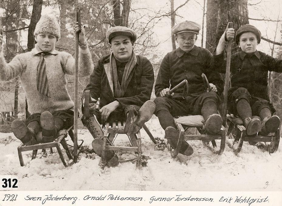 Kälkåkare 1921.