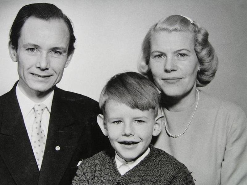 Rektor Gert Boström med familj.