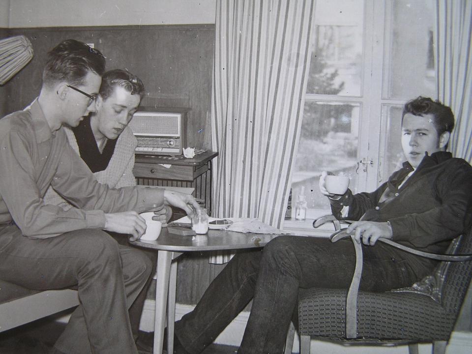 Fika på Trångbo 9/3 1961.