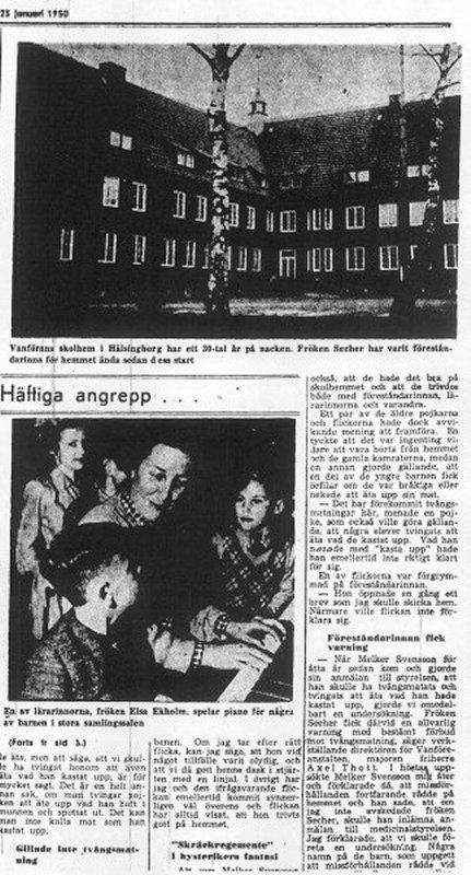 Skandalen 1950 artikel i HD 23 januari fortsättning