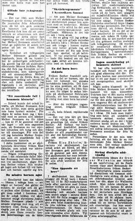 Skandalen 1950 artikel i HD 23 januari slutet