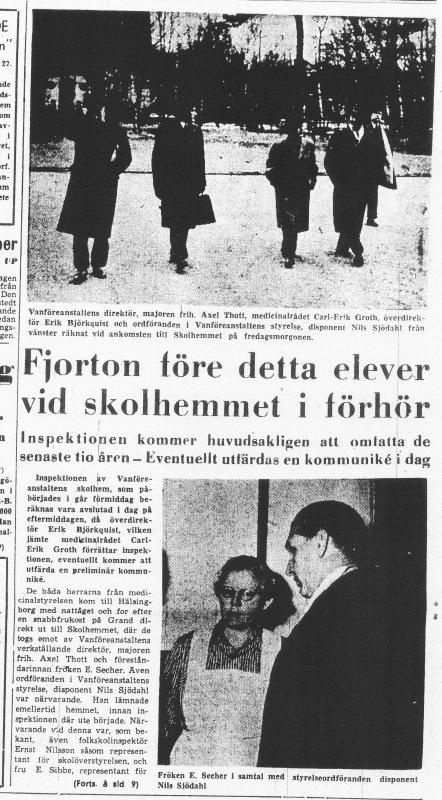 Skandalen 1950 inspektion på skolhemmet