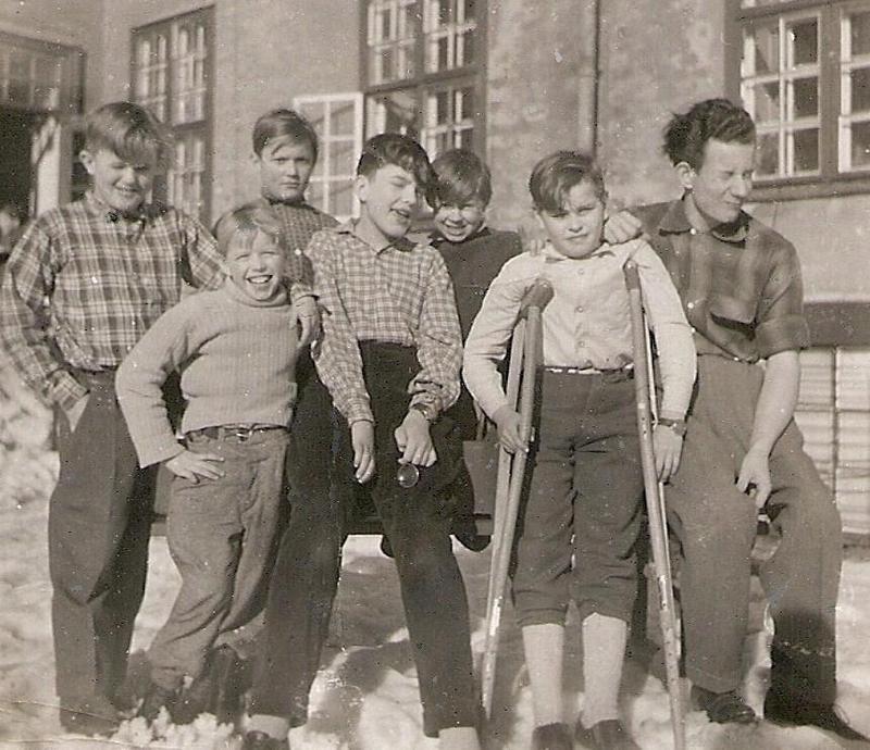 Sju glada elever.