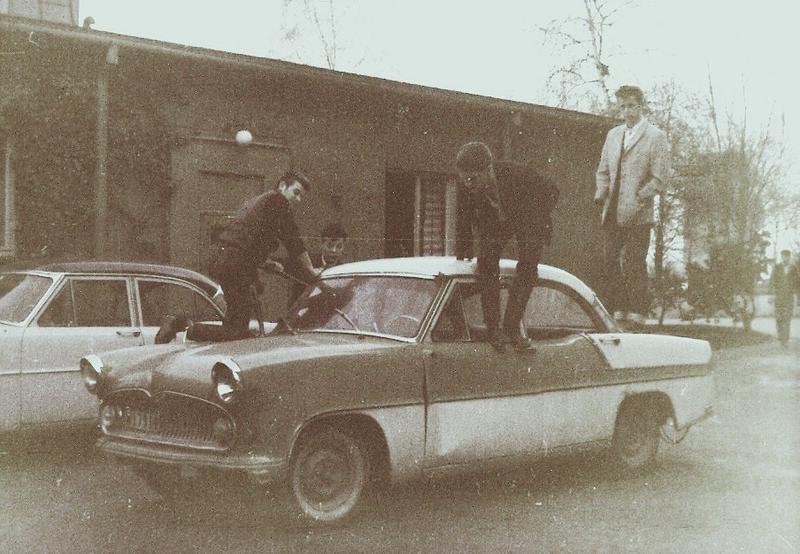 Takavsågning utanför Lillebo 1964.