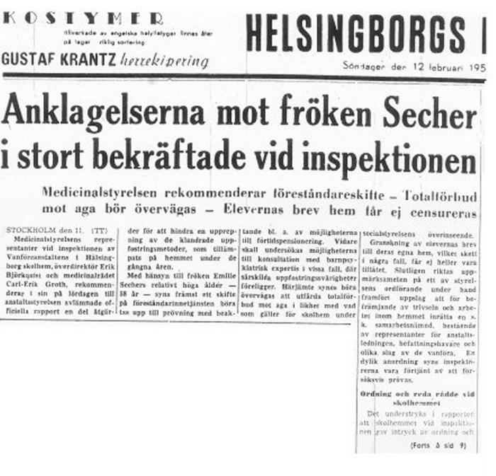 Skandalen 1950 rapport från inspektionen