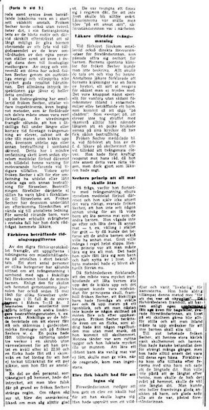 Skandalen 1950 rapporten hård kritik