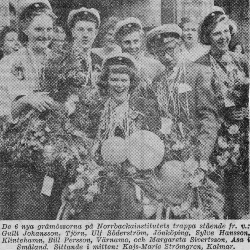 Realexamen 1952 tidningsurklipp.