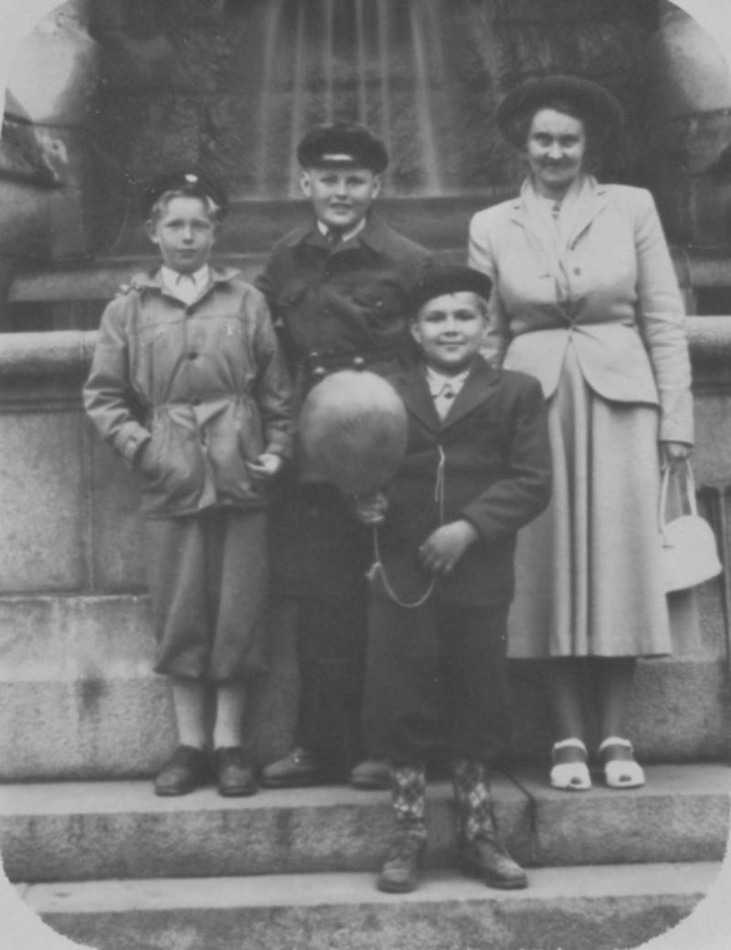 Utflykt på stan 1952