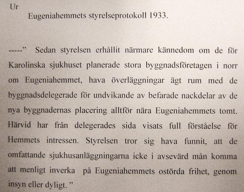 Ur ett styrelseprotokoll 1933.