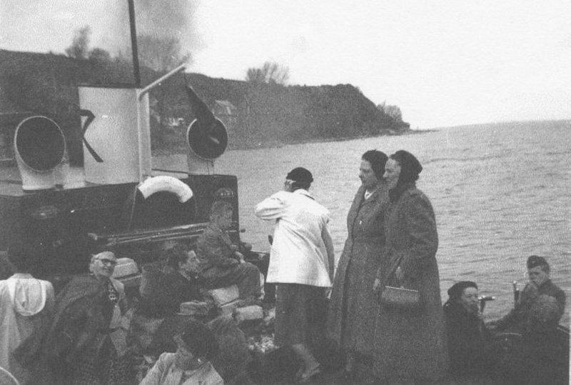Båtutflykt till Ven mitten av 1950-talet