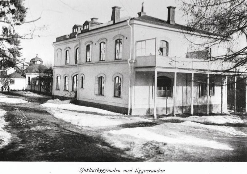 Sjukhusbyggnaden.
