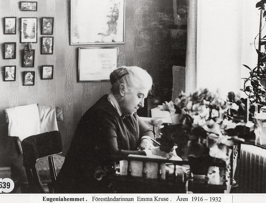Emma Kruse på sitt kontor.