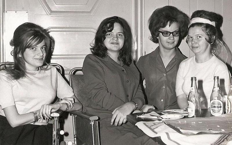 Birgitta, Eva, Violet och Siv.