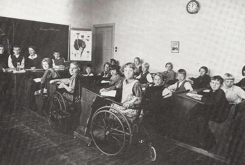 Klassrum i slutet av 1930-talet