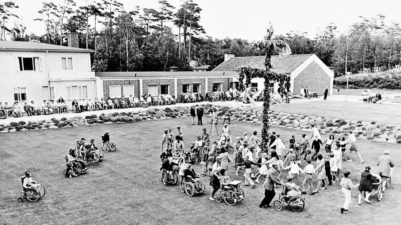 Midsommar på 1950-talet.