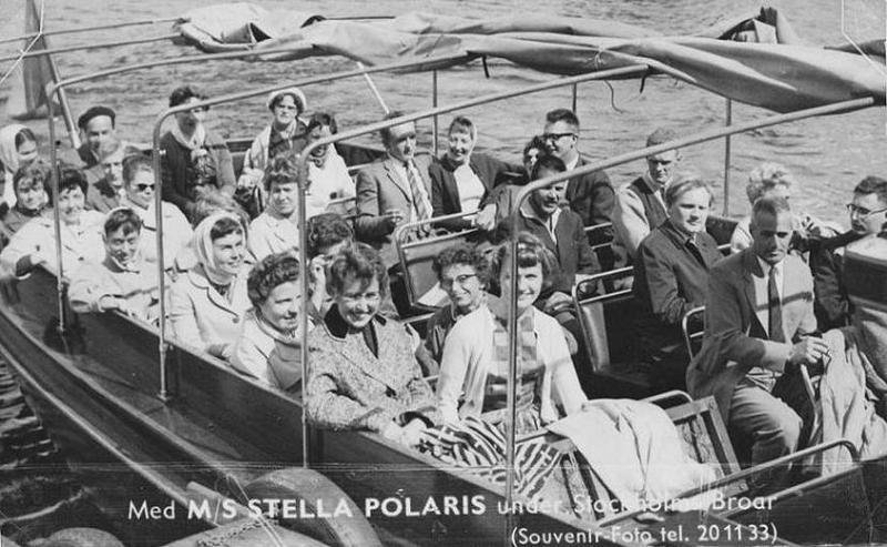 Båtutflykt med realskoleelever 1959.