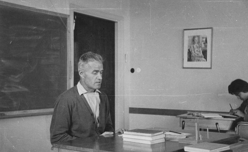 Läraren Björn Ståludd 1958.