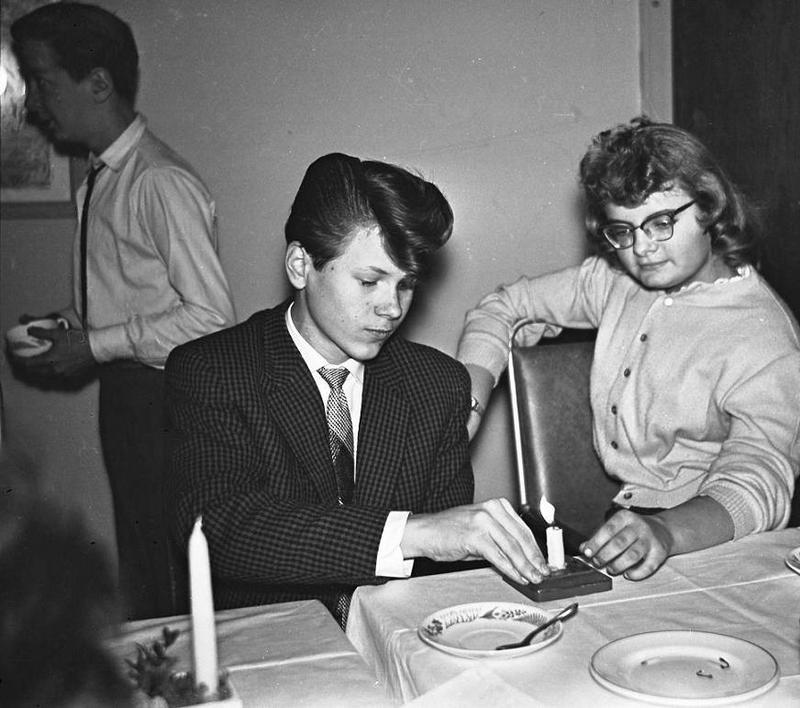 Göran Svanborg och Inger Gustavsson 1958.