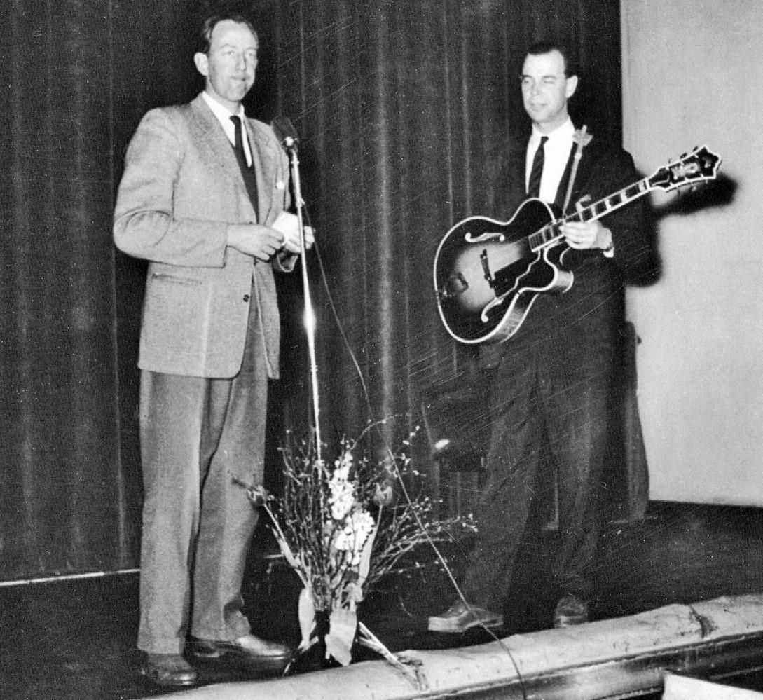 Bengt Feldtreich och Staffan Broms 1958.