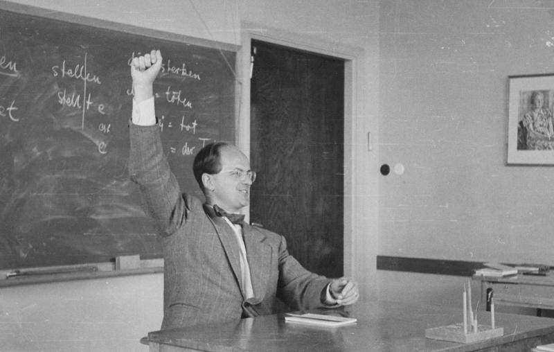 Läraren Lars-Olov Tegréus 1958.