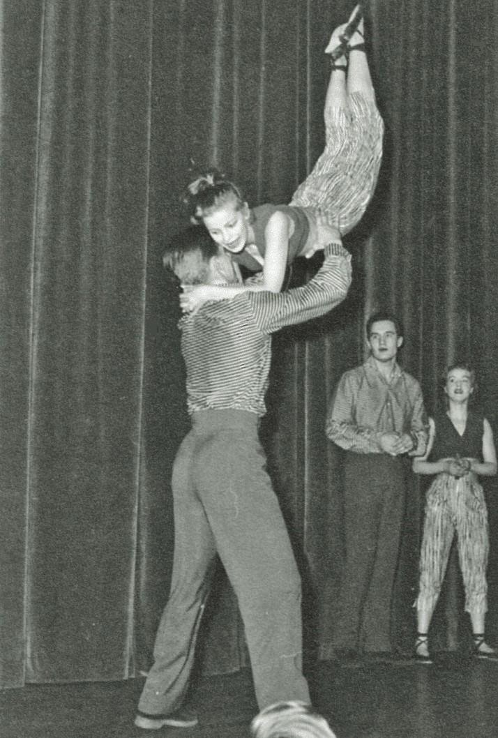 Rock´n roll uppvisning 1957.