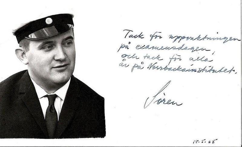 Sören Rosberg student 1968.