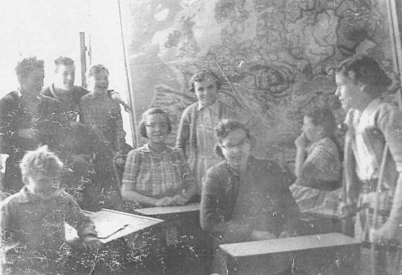 En skolklass 1953