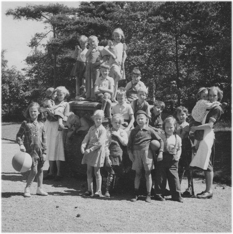 Sommarkollo på skolhemmet 1949